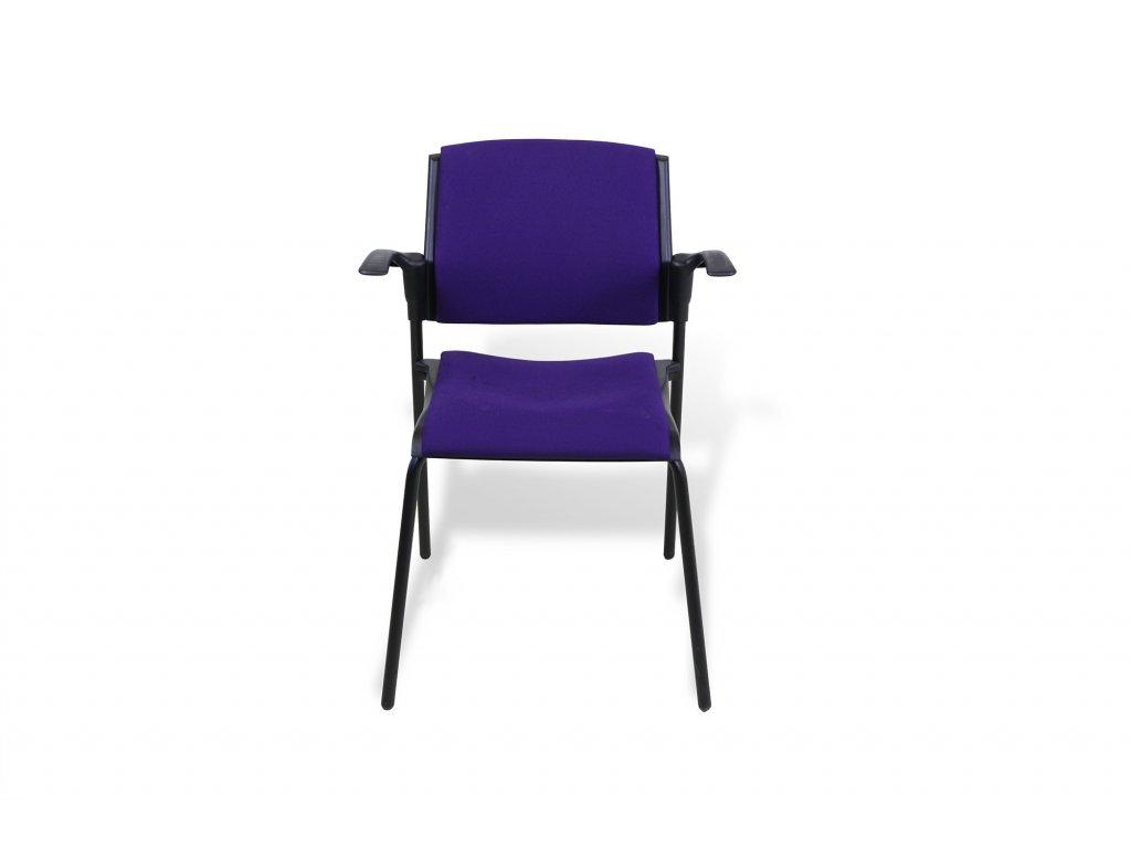 Konferenční židle RIM EM 570 fialová s čalouněným sedákem a opěrkou