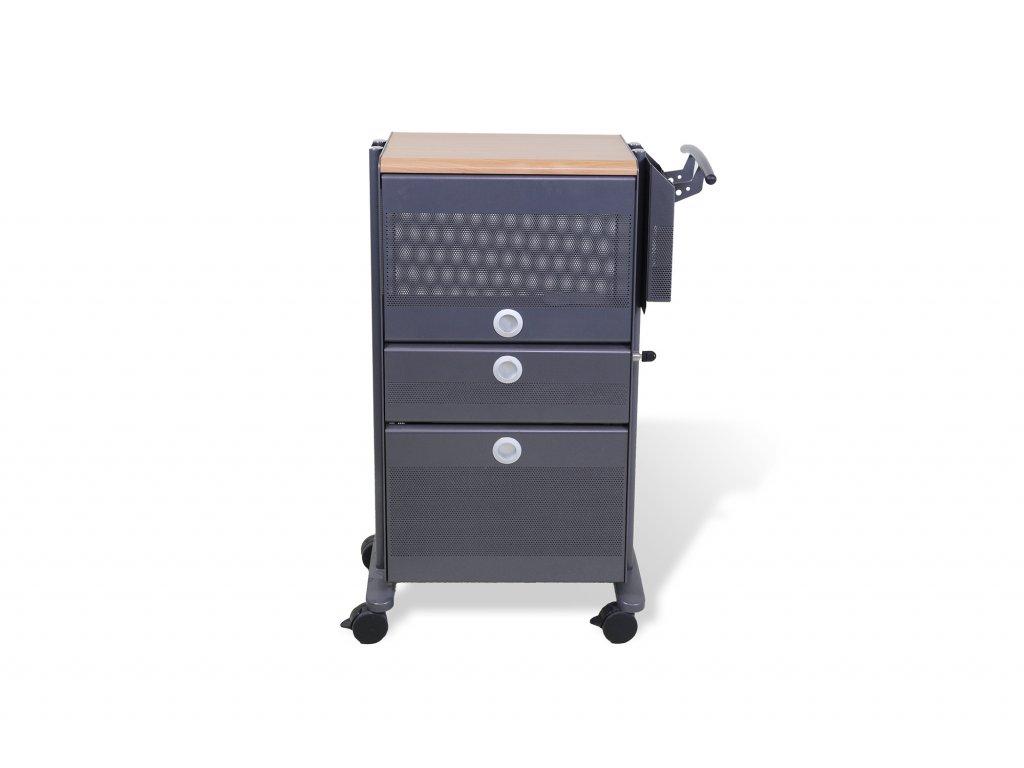 Kontejner vozík Steelcase šedý plech antracit/buk