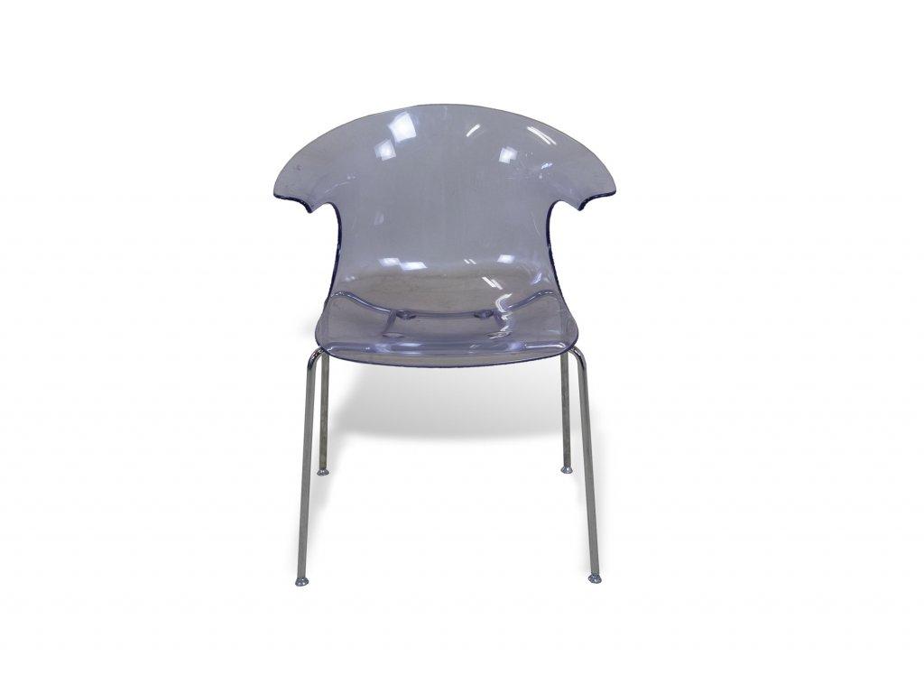 Plastová židle Loop by Infinity nízká - světlá