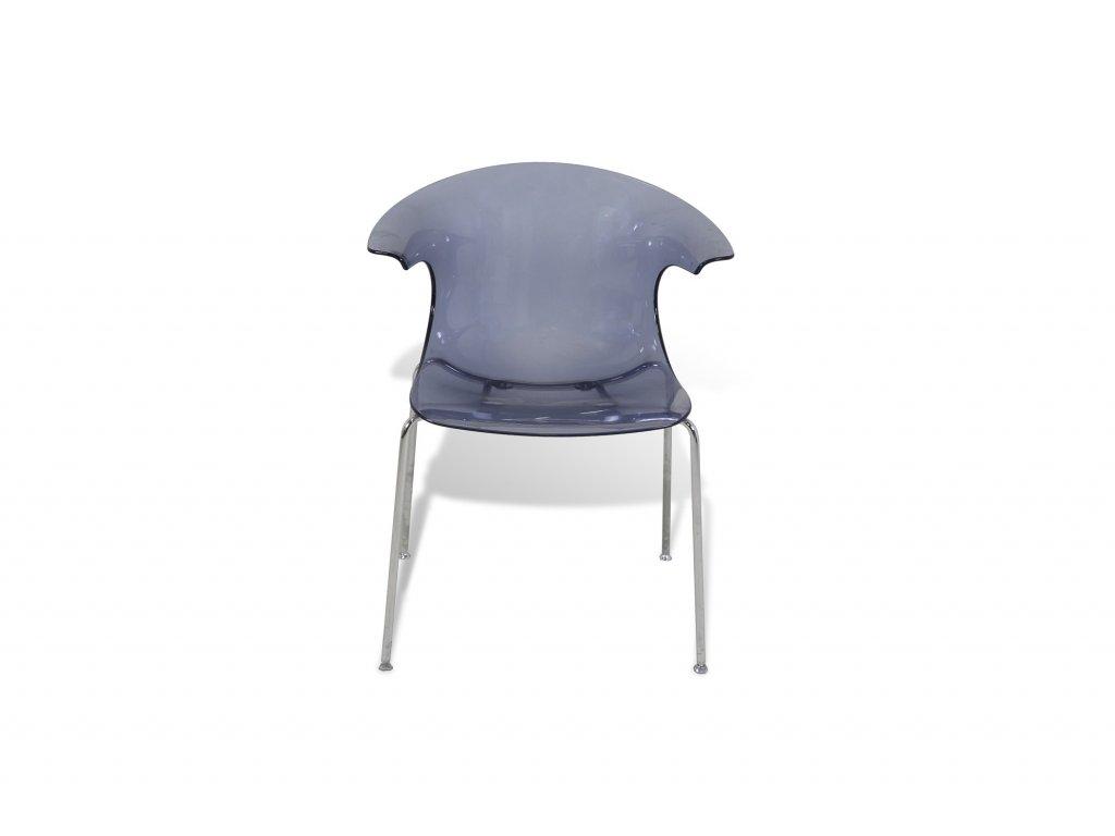 Plastová židle Loop by Infinity nízká - modrá