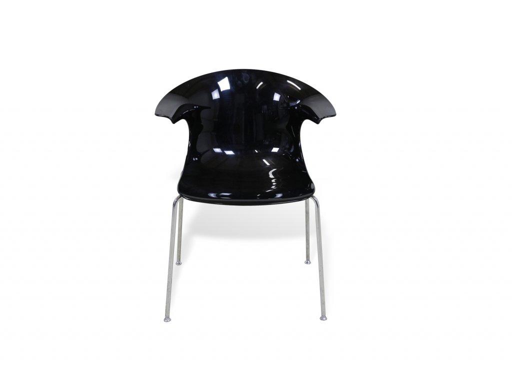 Plastová židle Loop by Infinity nízká - černá