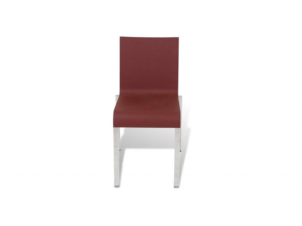 Plastová židle - vínová Vitra