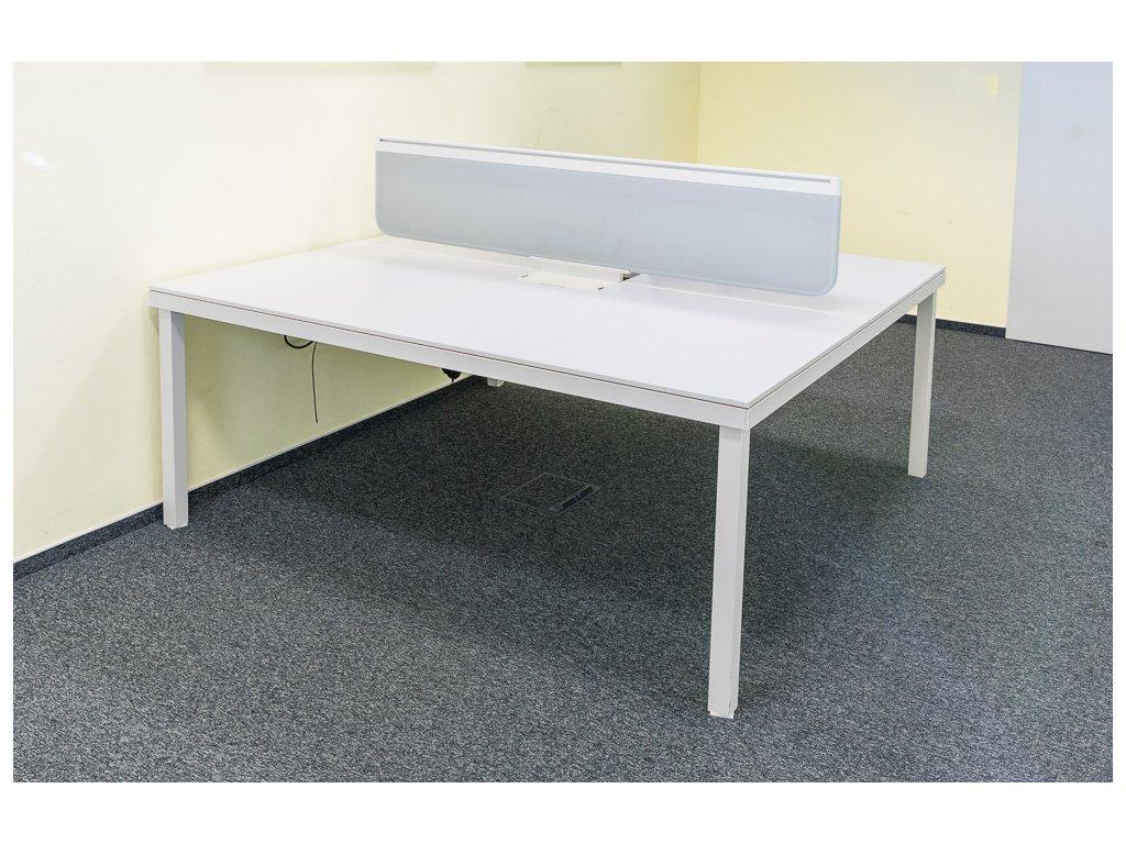 Kancelářský stůl pro 4 osoby Vitra bílá 360 x 180