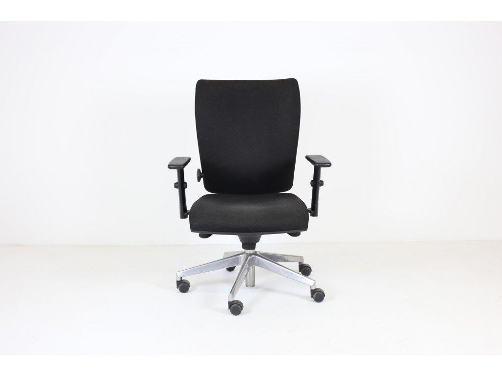 Židle kancelářská, LD seating černá nohy chrom