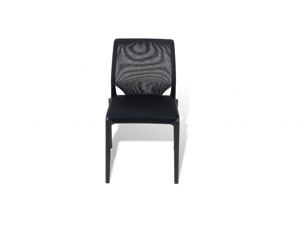 Židle, Vitra, Meda Slim, černá, látka, záda - síť