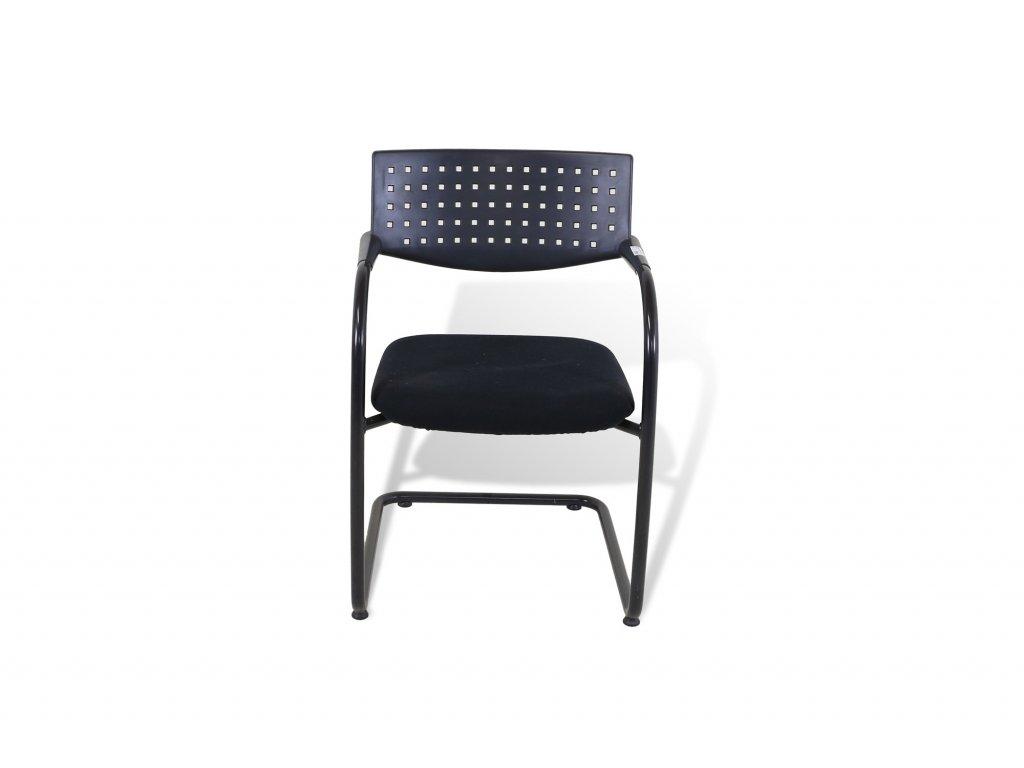 Židle konferenční , VITRA , černá ,  záda plast