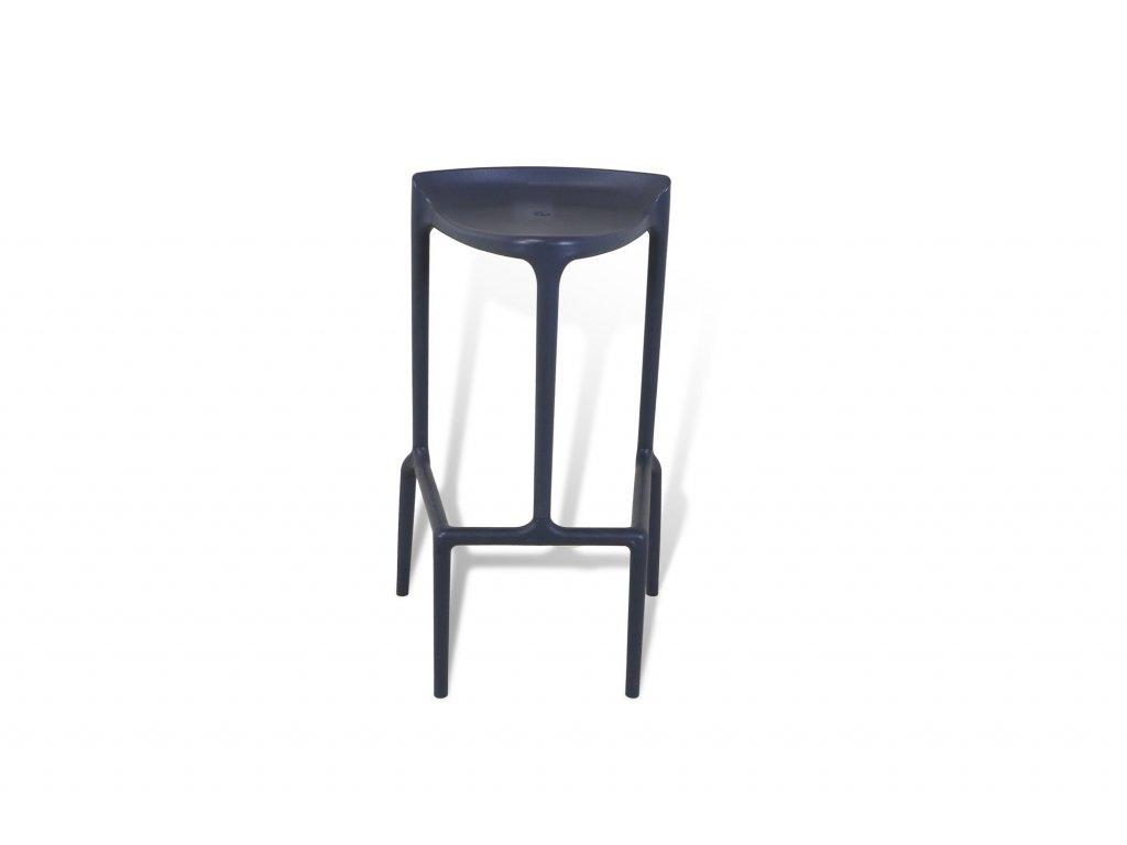Židle barová , PEDRALI , tmavě šedá , plastová