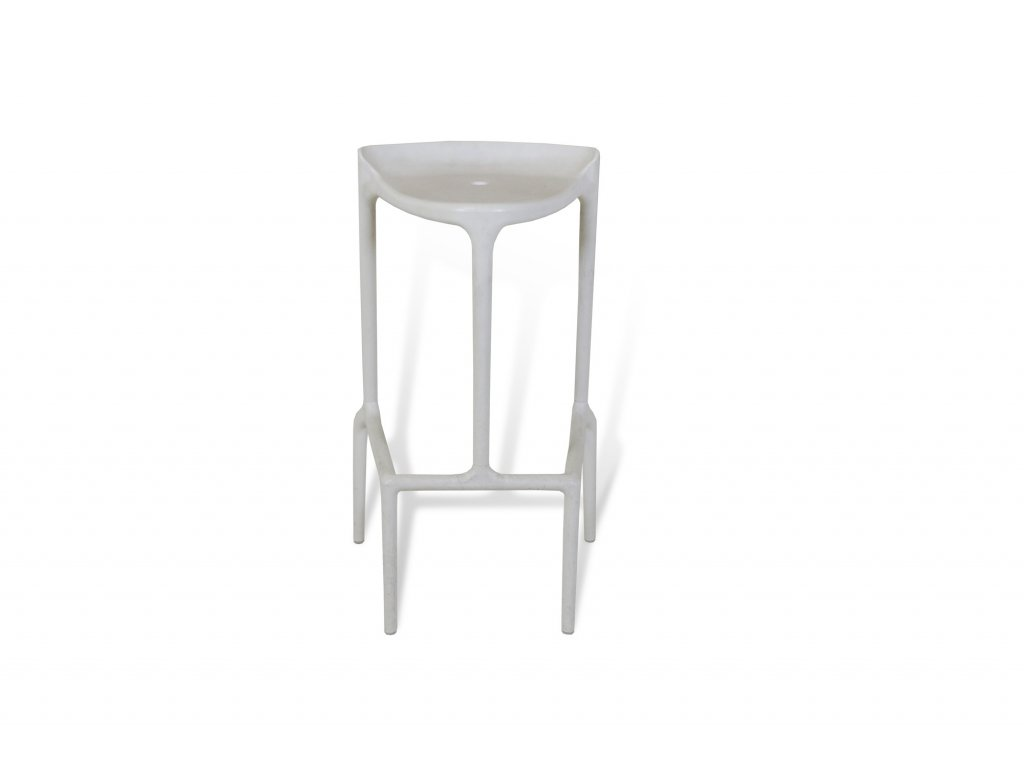 Židle barová , bílá , plastová