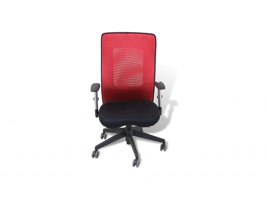 Židle kancelářská, SIT ME , černá/ červená červené sítové záda