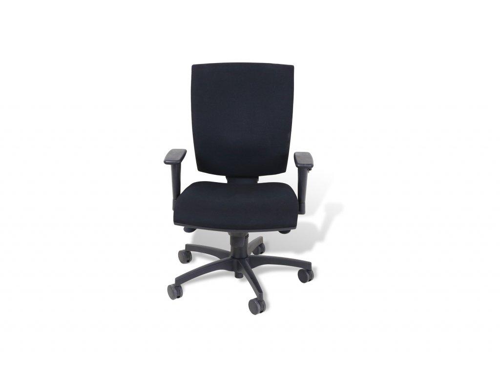 Židle kancelářská, RIM , černá , černý kříž