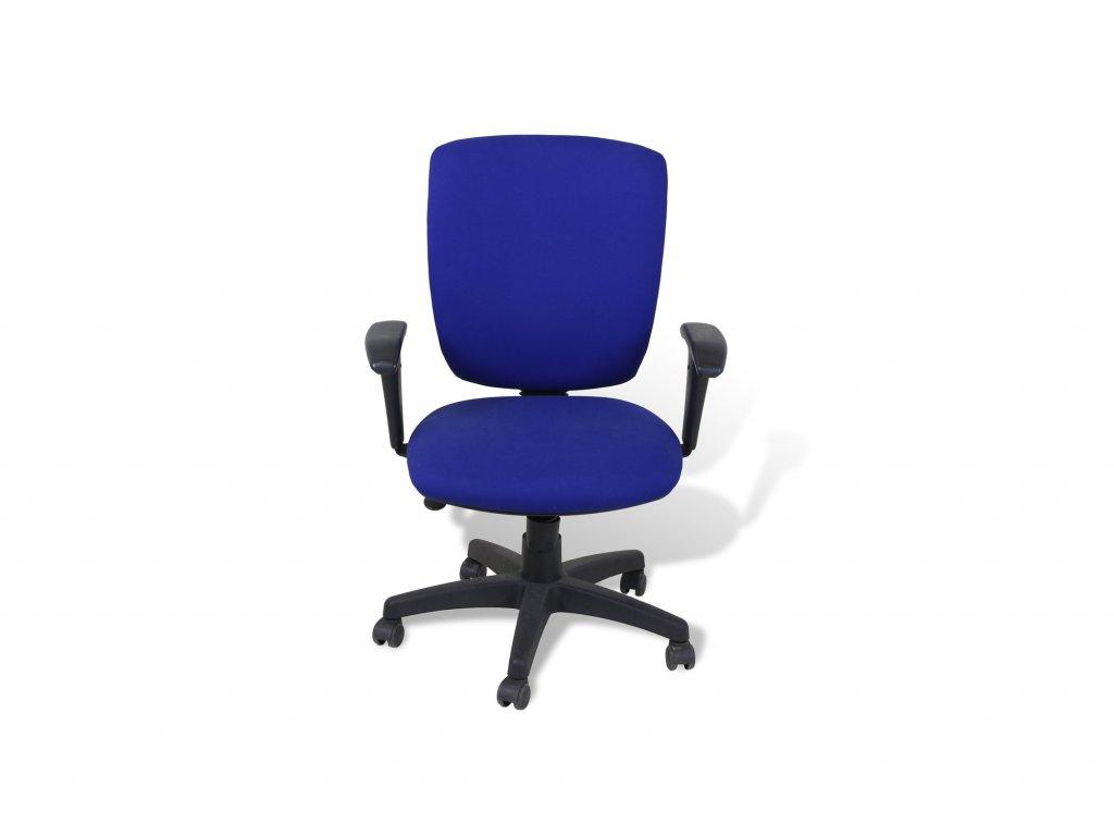 Židle kancelářská, ALBA , modrá , černé područky