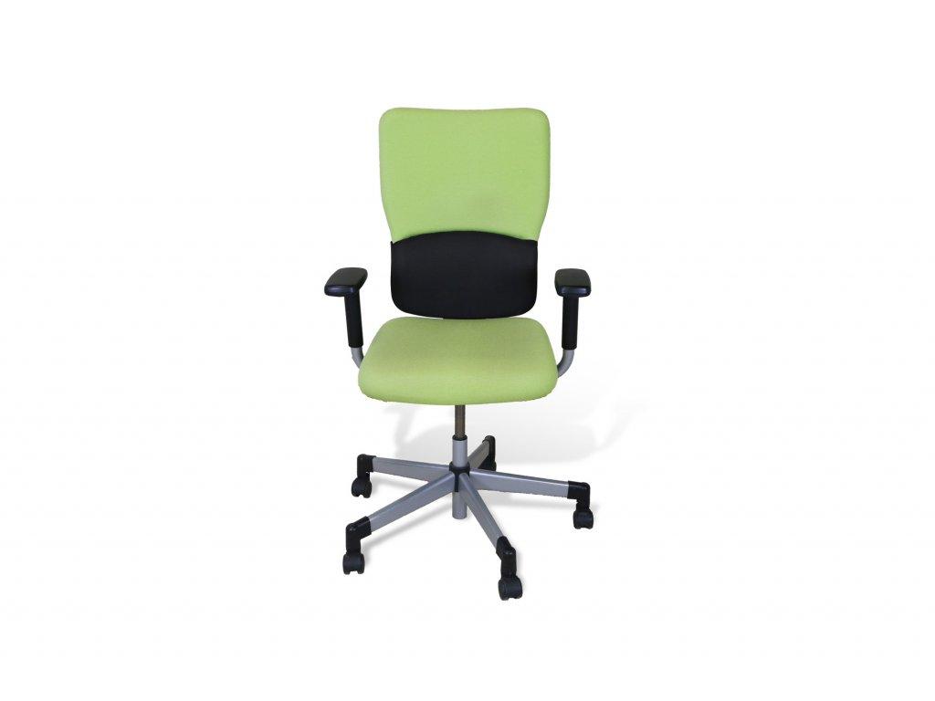Židle kancelářská, Steelcase, zelená , černé područky