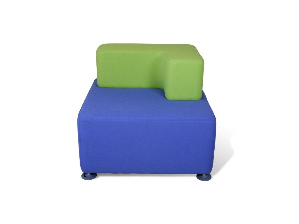 Křeslo , Steelcase , 85x85, modrá , zelený opěrák