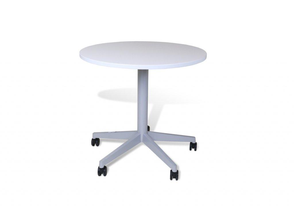 Stůl konferenční, Steelcase , 80, bílá , kulatý, na kolečkách