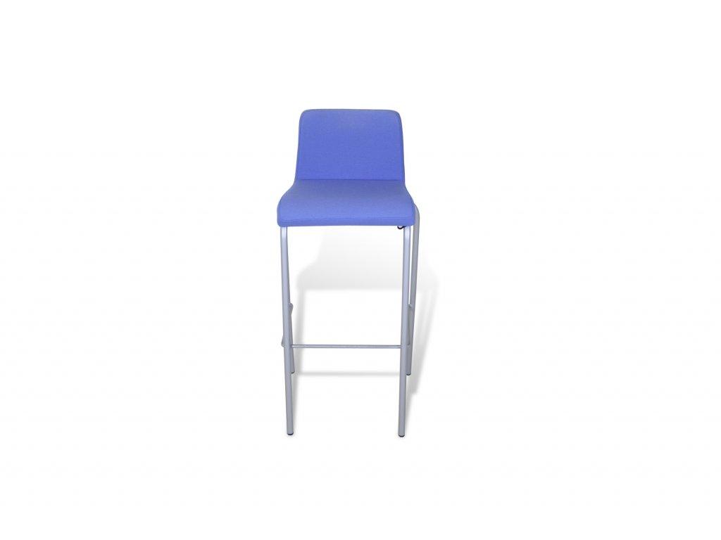 Židle barová, Steelcase, polstrovaná, sv.modrá/šedý rám