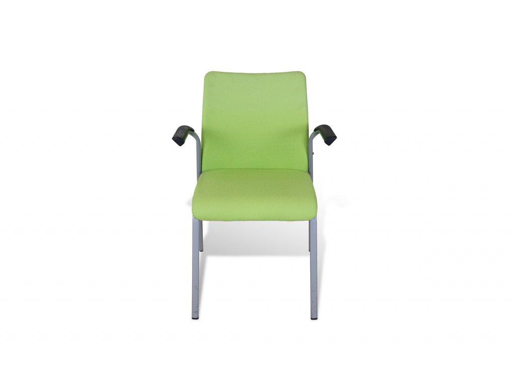 Židle konferenční , Steelcase , zelená , černé područky