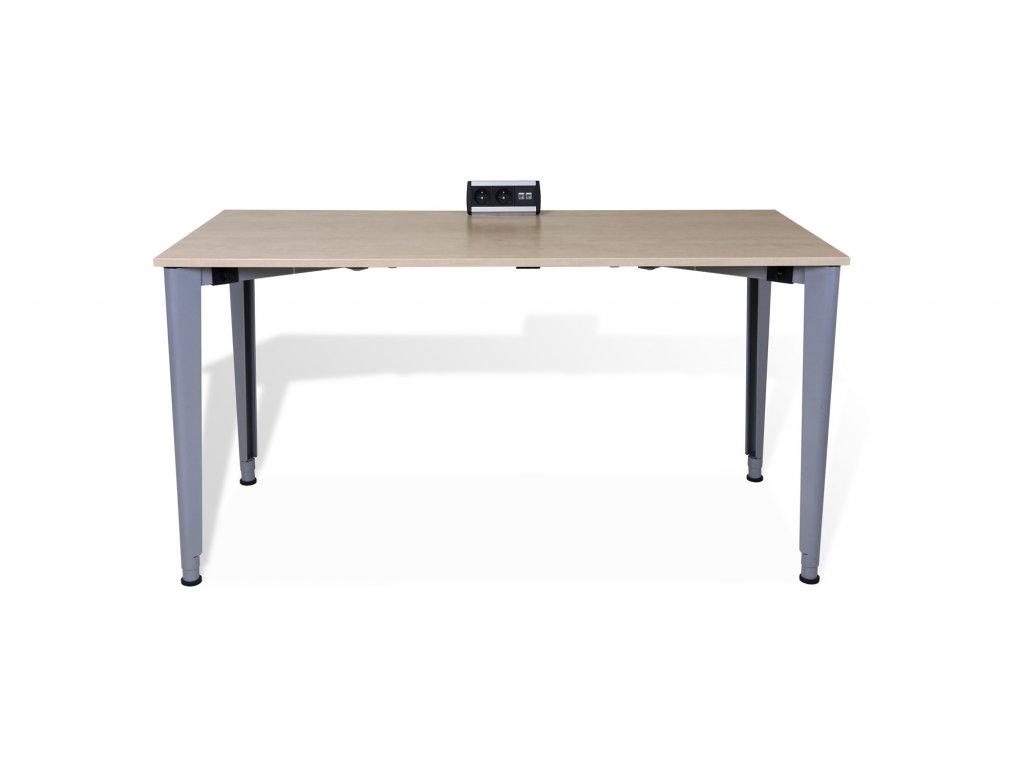 Stůl pracovní, Techo, 140x80, hruška/šedá, skládací