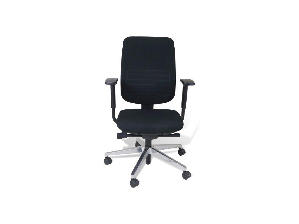 Židle kancelářská, SteelCase, černá, látka, područky, synchron