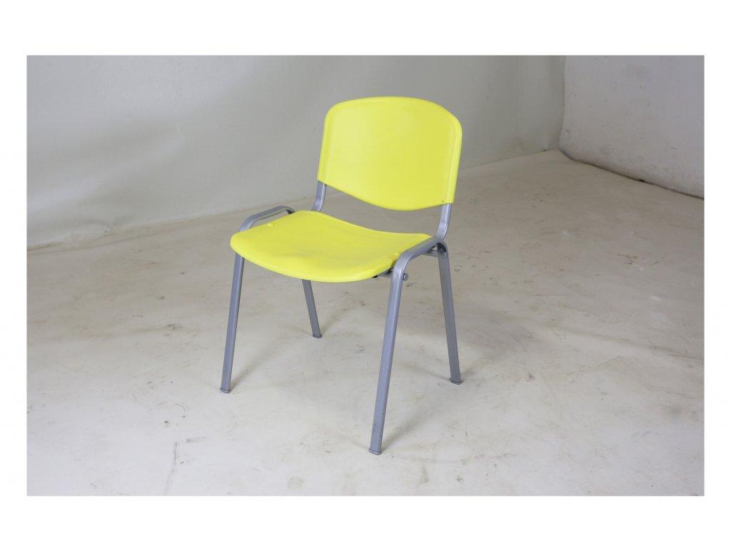 Židle, CCS, žlutá, plastová, jídelní