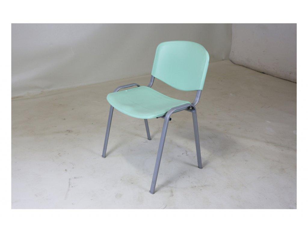 Židle, CCS, sv. zelená , plastová, jídelní
