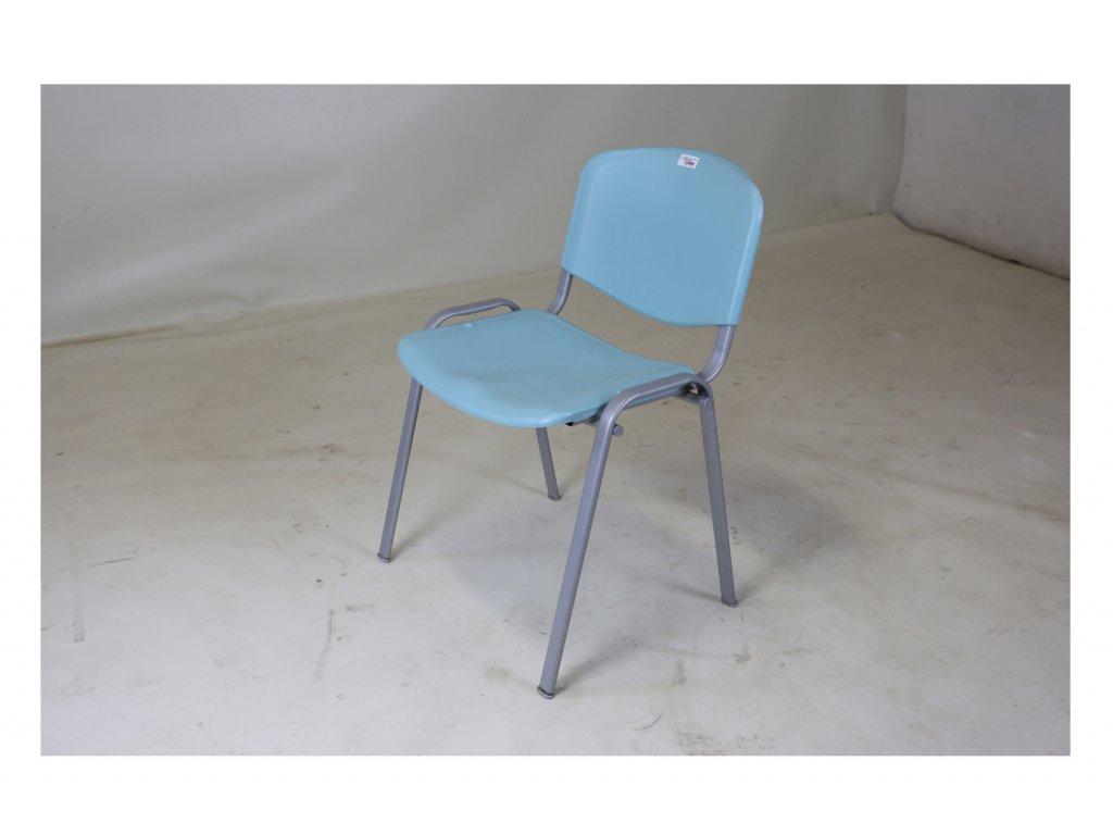 Židle, CCS, sv. modrá, plastová, jídelní