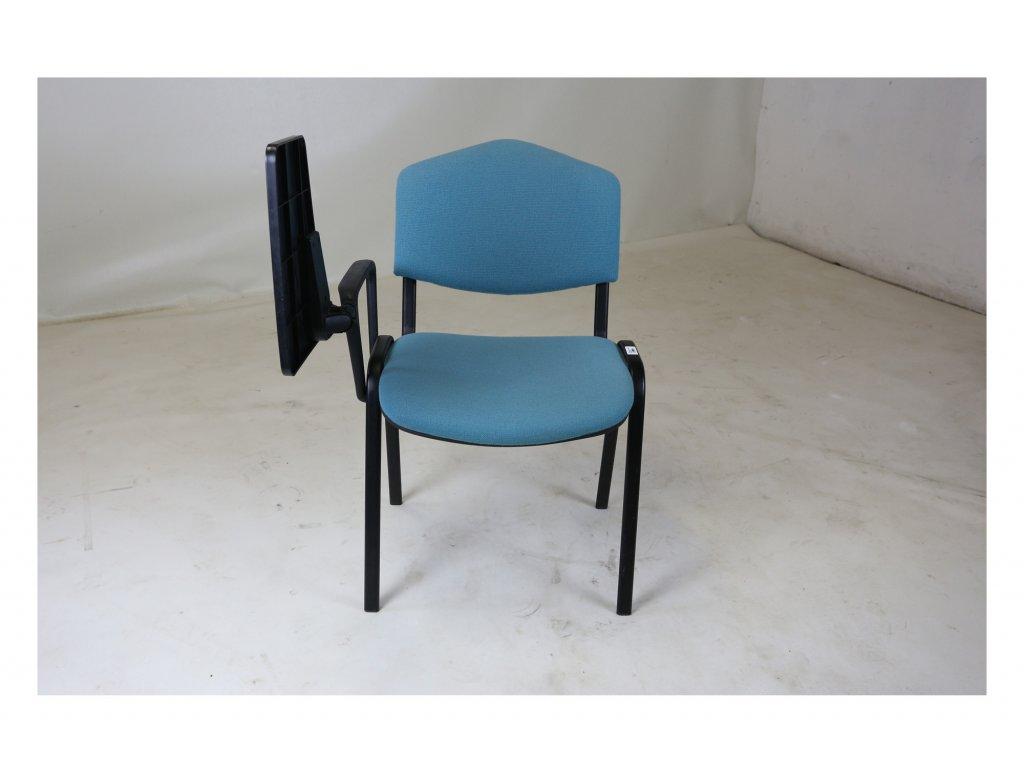 Židle konferenční, zelená , se stolečkem