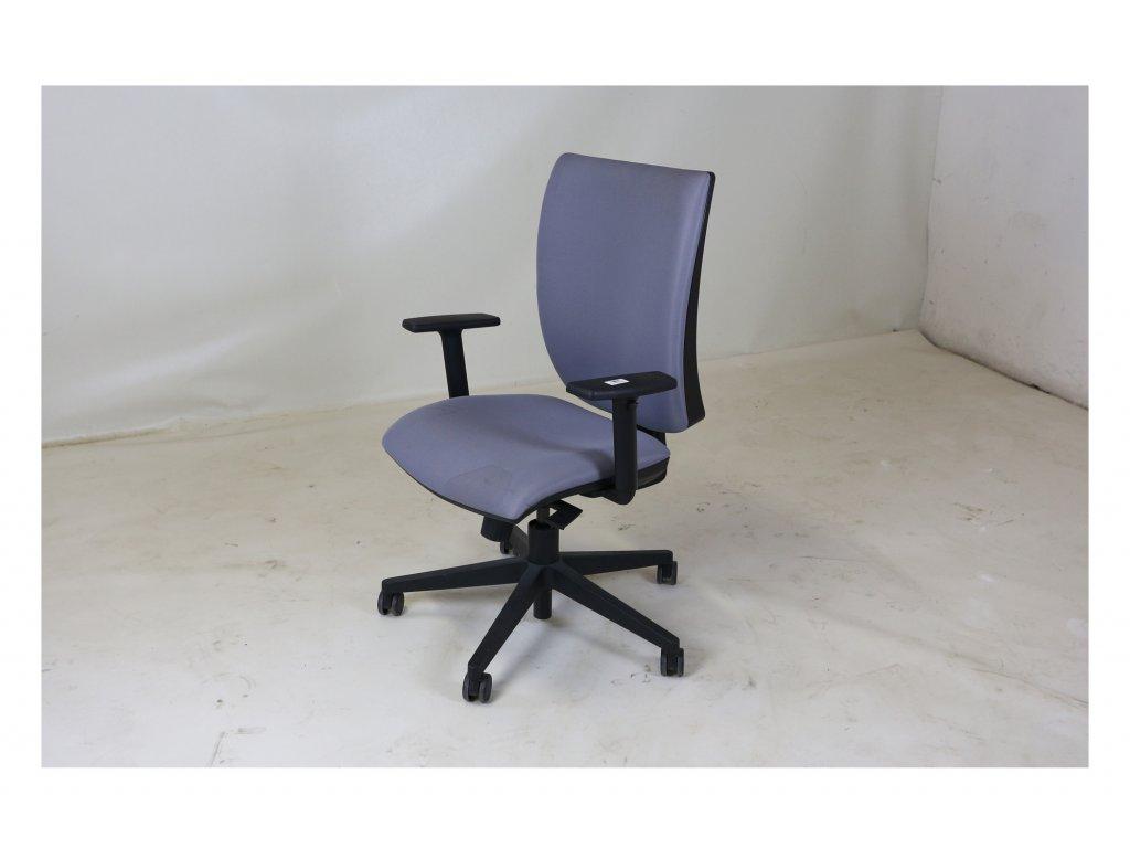 Židle kancelářská, LYRA , šedá, černý kříž