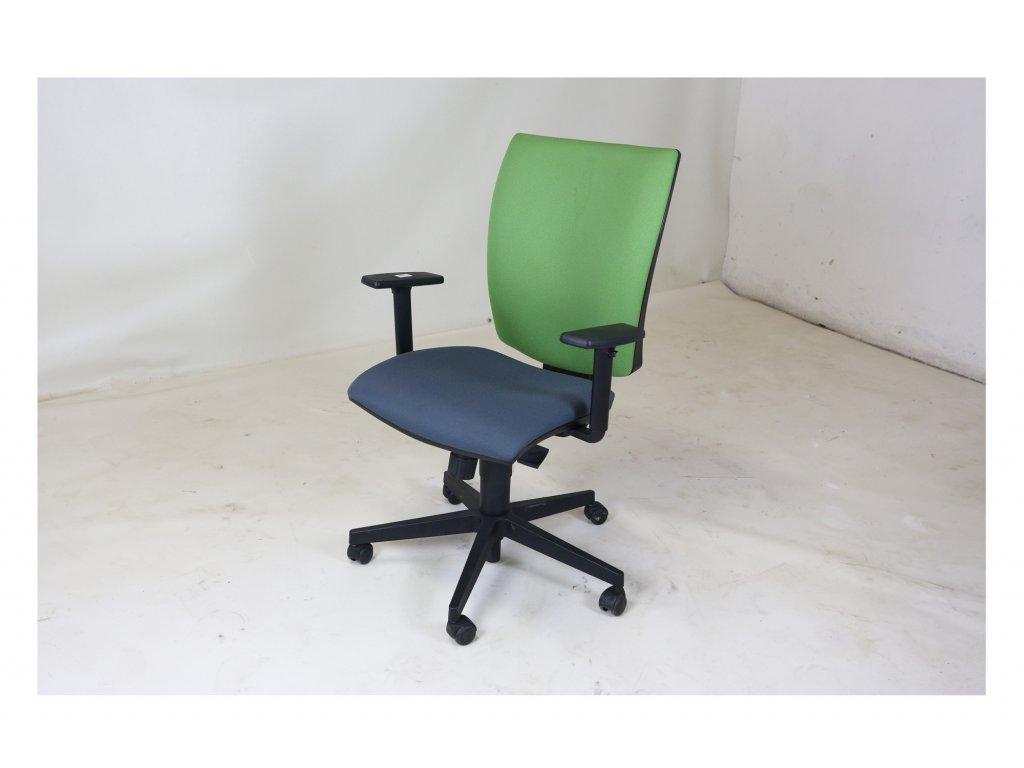 Židle kancelářská, LD Seating, Lyra zeleno šedá, bez područek