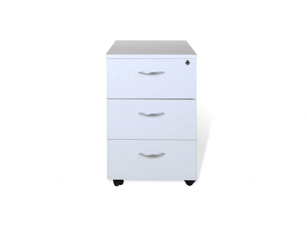 Kontejner zásuvkový, 59x32x55, bílý , 3 šuplíky
