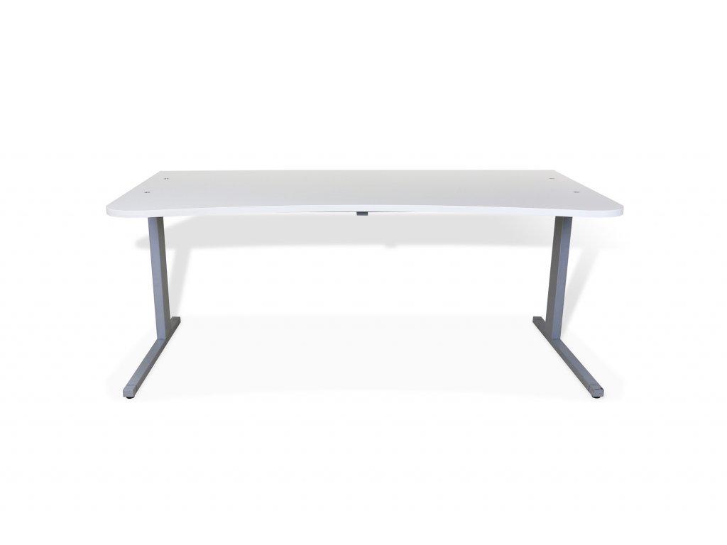 Stůl Techo, 180x90, bílá deska/noha šedá, ABS