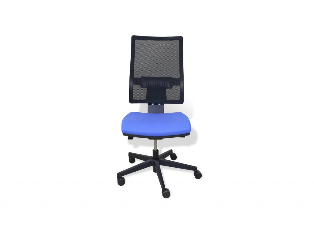 Židle kancelářská, Rim, Modrá, záda síť., bez područek