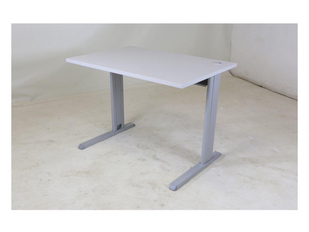 Stůl,100x70, šedý, průchodka, vrut