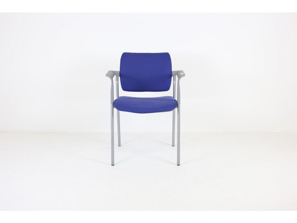 Židle konferenční ,LD seating, Dream, modrá/šedá