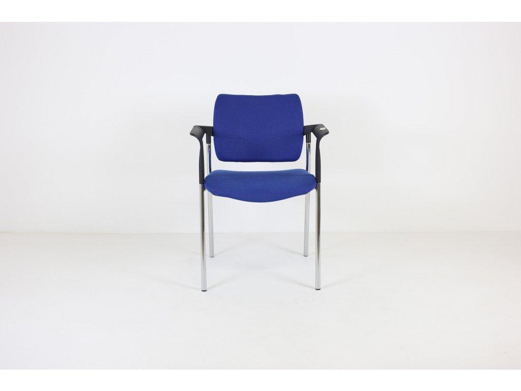 Židle konferenční,LD seating, Dream ,modrá/černá/chrom. rám