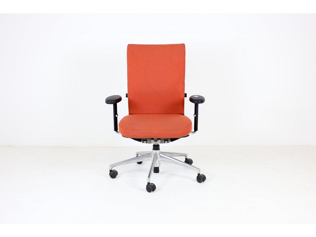 Židle kancelářská, Vitra, Axess, oranžová, područky