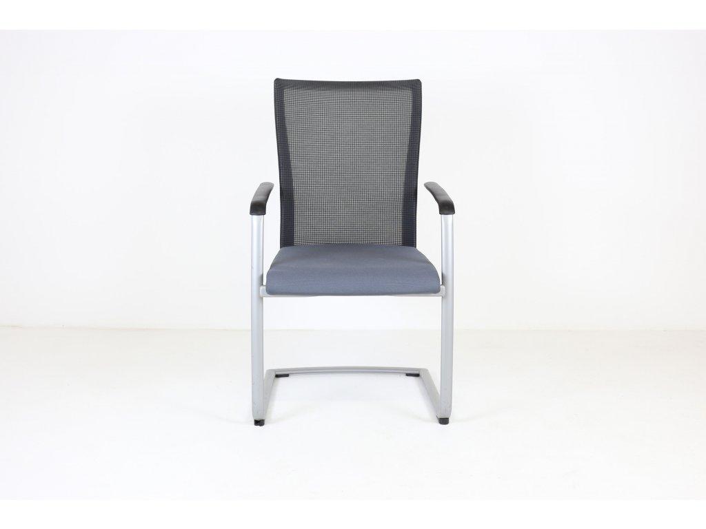 Židle konferenční, SteelCase, poškozená, Modrý podsedák, síťovaná záda