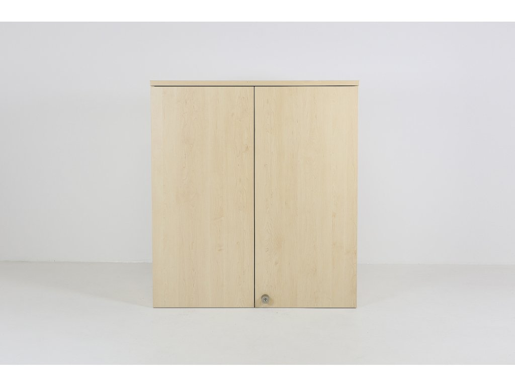 Skříň, 112x100x43, javor, 30H,dveře, policová, nástavba