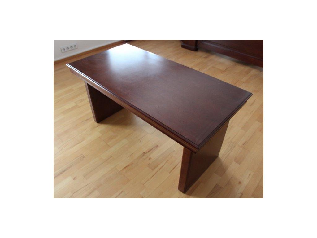 Stůl, konferenční, 140x71x69, masiv, tmavý ořech