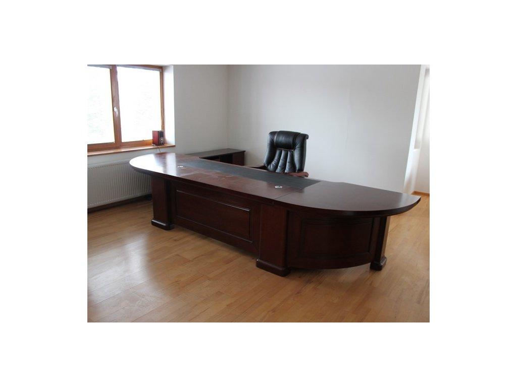Stůl, 380x100x98, masiv, tmavý ořech