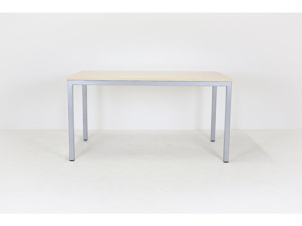 Stůl, DVD, 140x80x74, javor/šedá, rámová podnož, Jäkl