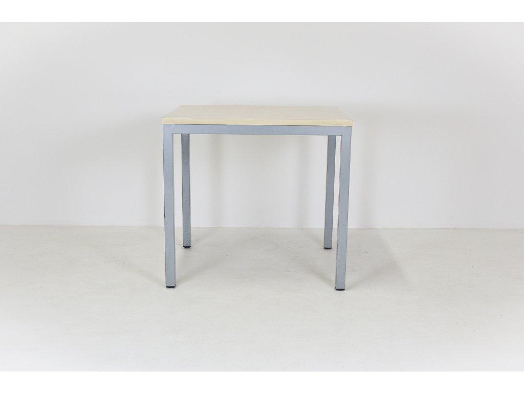 Stůl, DVD, 80x80x74, javor/šedá, rámová podnož, Jäkl