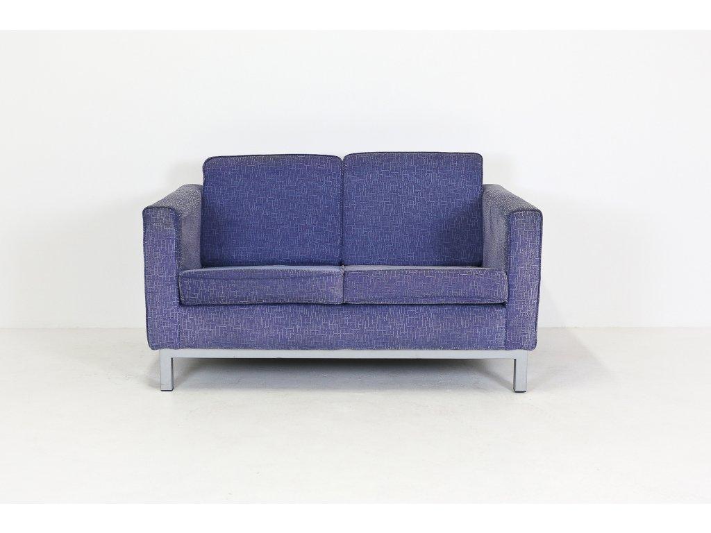 Sofa DVD, 140x80, kov rám, polstr.-modrofialova