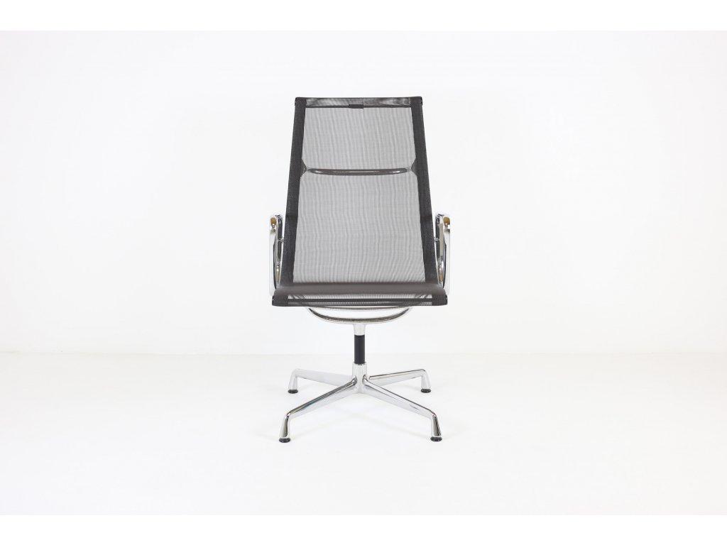Židle konferenční, Vitra Aluminium Group EA108, vysoká záda, síťovaná šedá