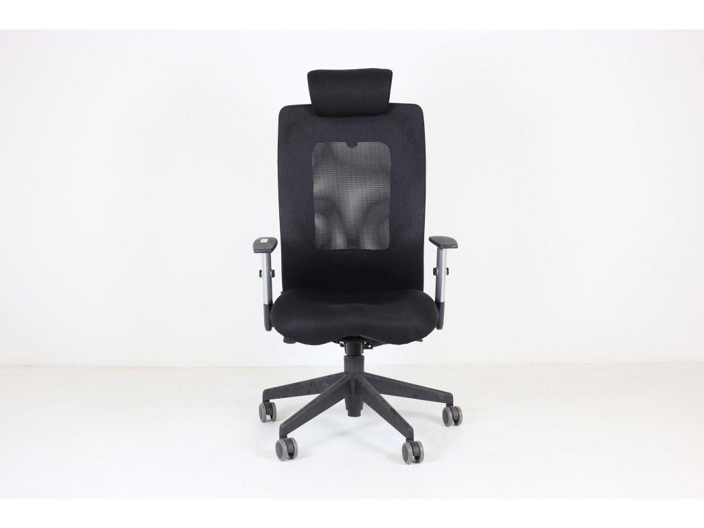 Židle kancelářská, Antares, černá, Sit me, područky, podhlavník, síťovanná