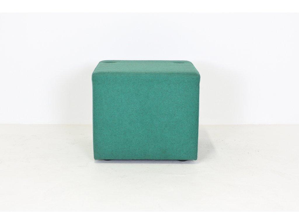 Sedák, 43x48x48, zelený, polstrovaný