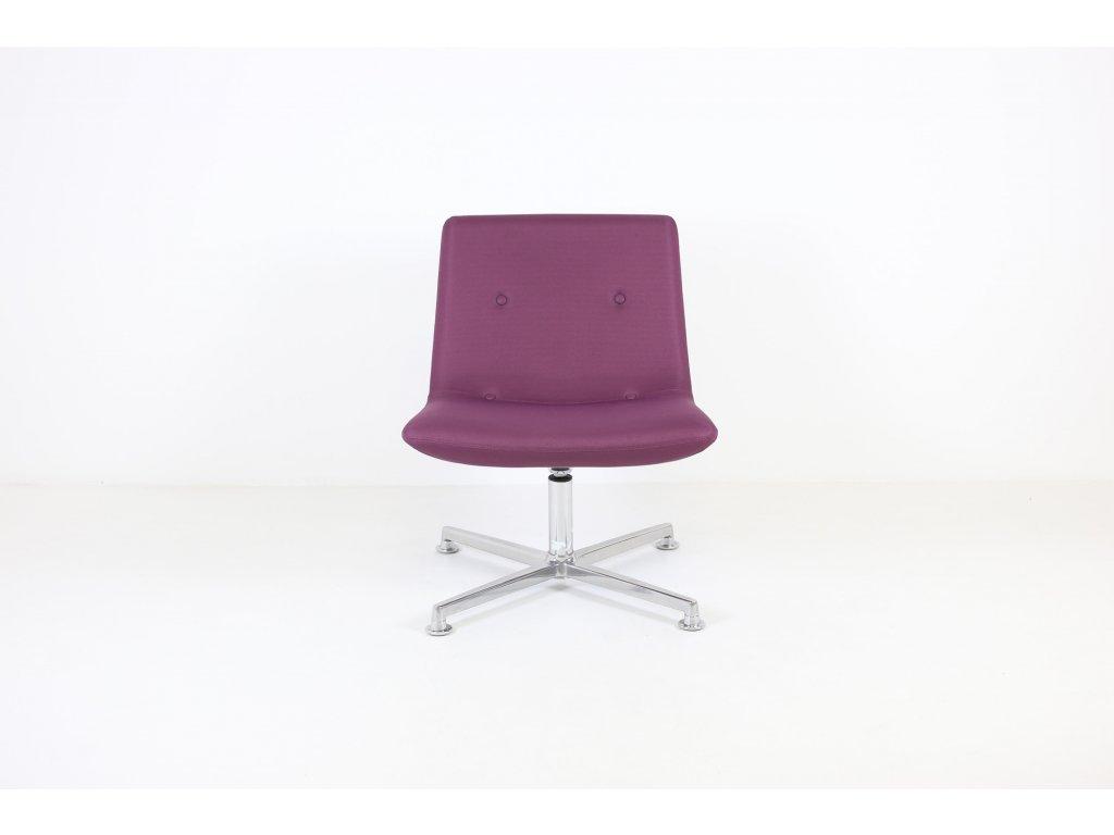 Křeslo , LD seating, Fialové/alu, centrální otočná noha