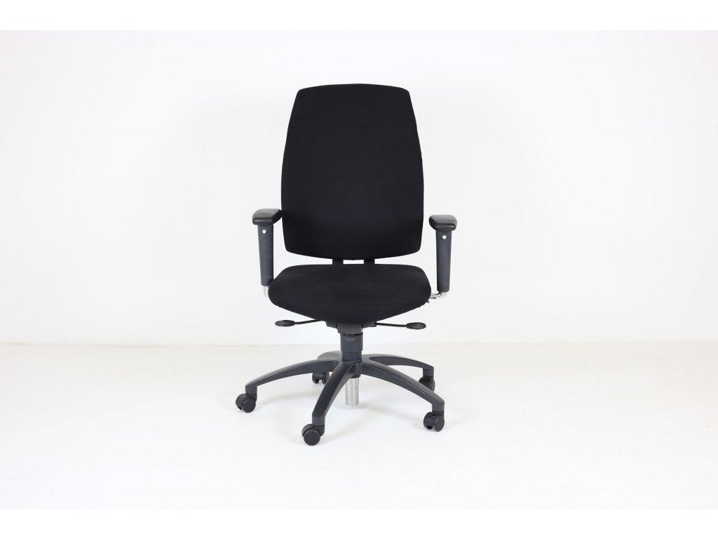 Židle kancelářská, Drabert, Entrada, černá, područky, vysoký opěrák