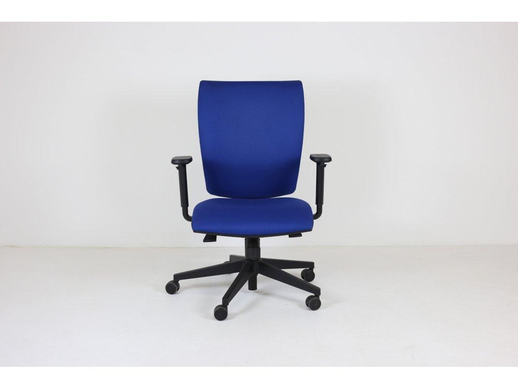 Židle kancelářská, LDseating, Lyra, modrá, područky