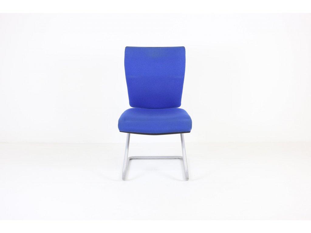 Židle konferenční, Loco desing, modrá, bez područek