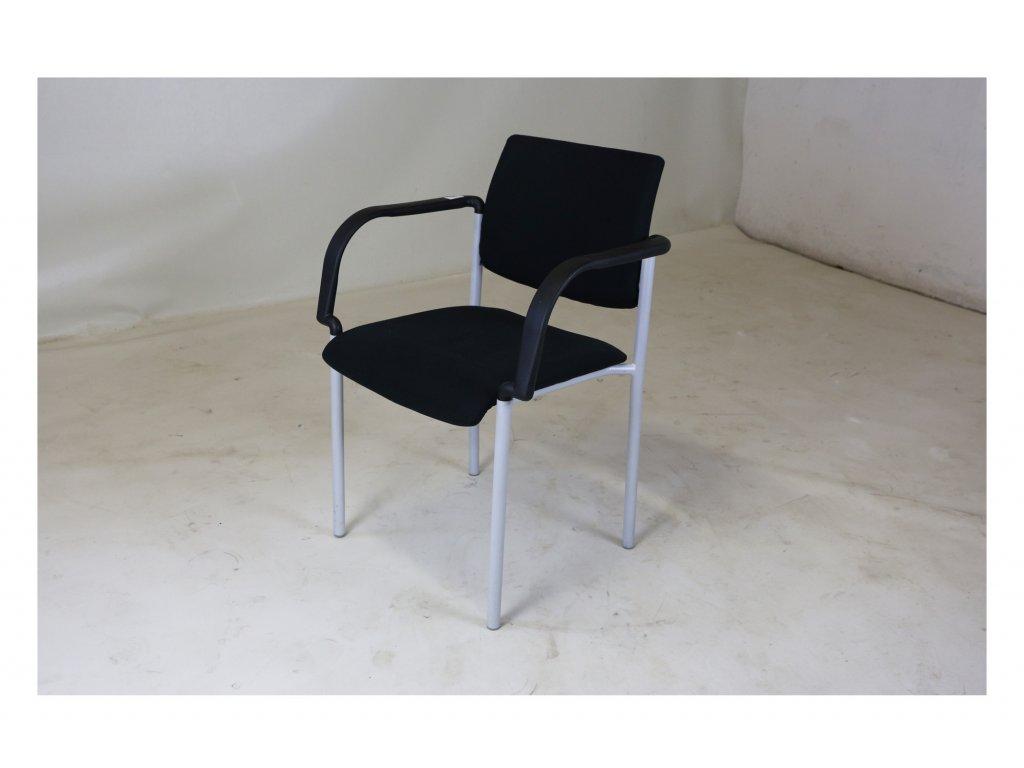 Židle konferenční, LD Seating, černá/chrom